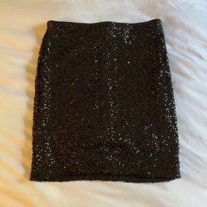H&M Black Sequin Mini Skirt